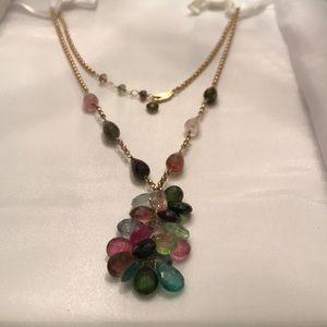 Tourmaline 14 karat gold necklace